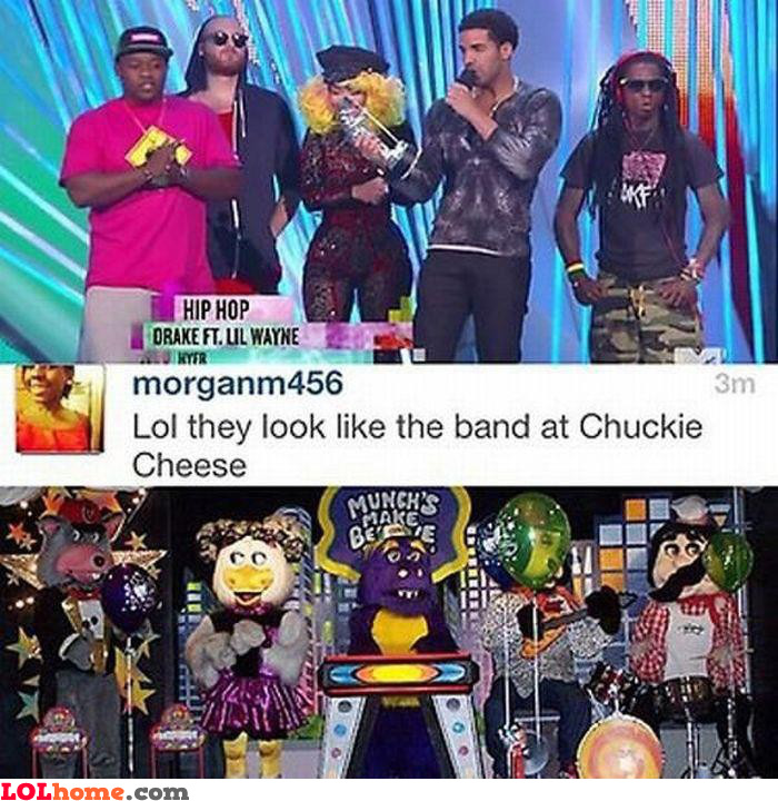 Chuckie Cheese band
