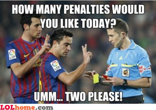 Two penalties, please!