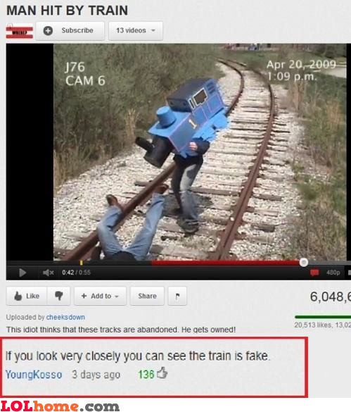 Hit by a train