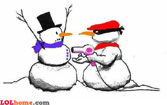 Snowman freeze!