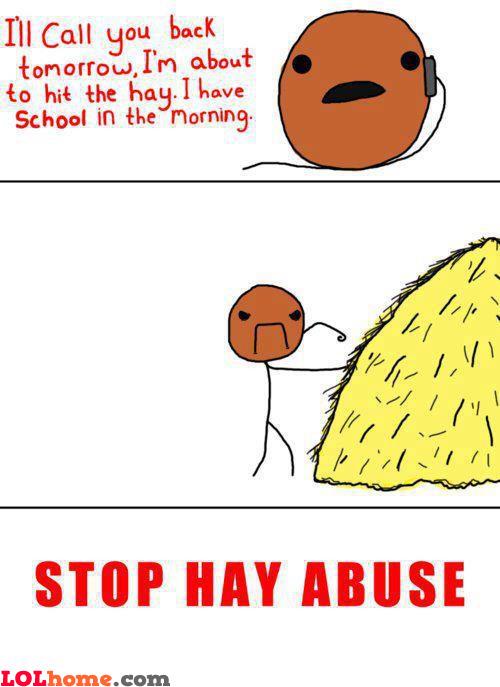 Hitting the hay