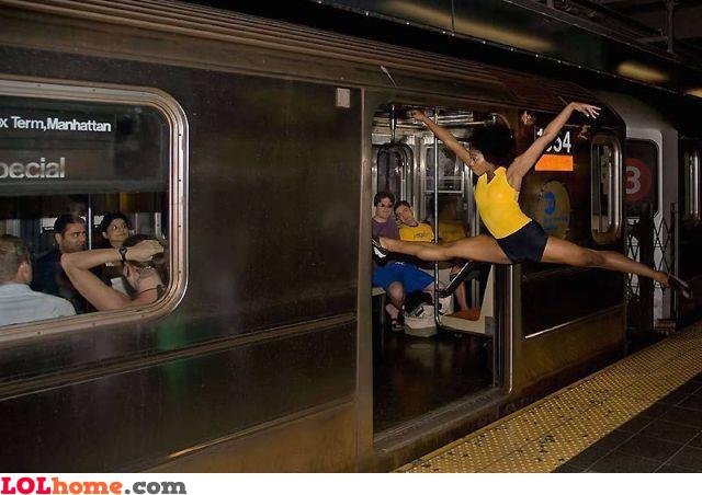 Entering the train