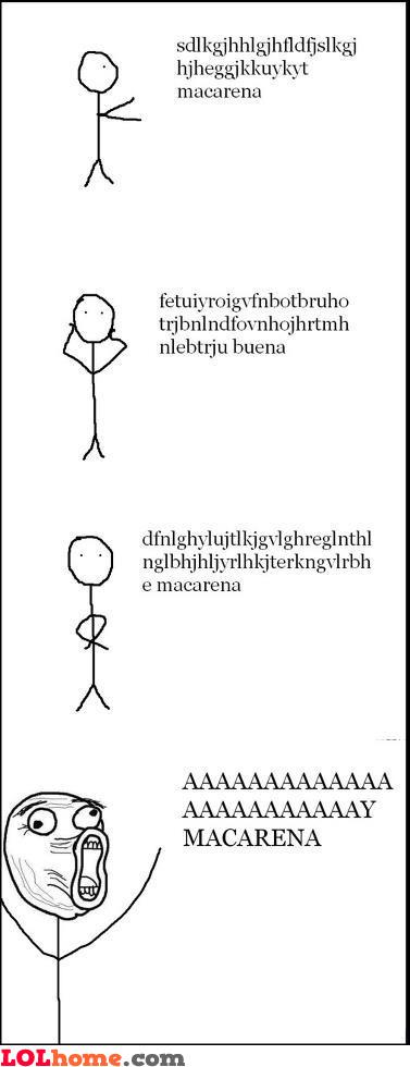 Dancing to Macarena song