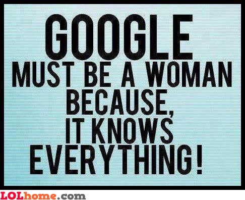 Google is a woman