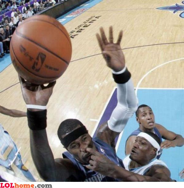 Basketball or picking nose