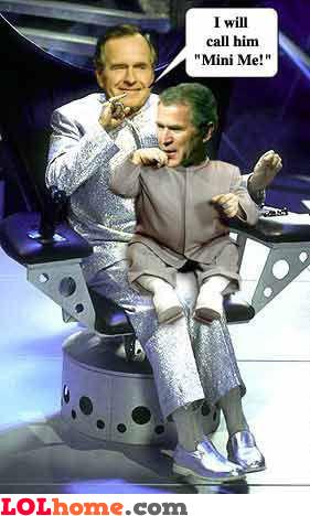 George Bush and Mini Me
