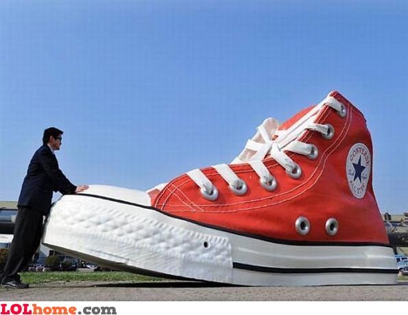 Huge Converse Shoe