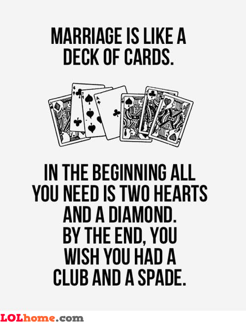Marriage and cards