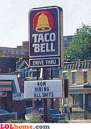 now hiring all shits