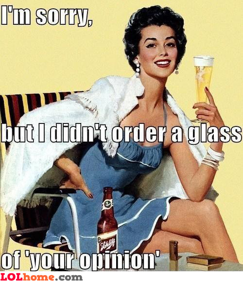 Glass of opinions