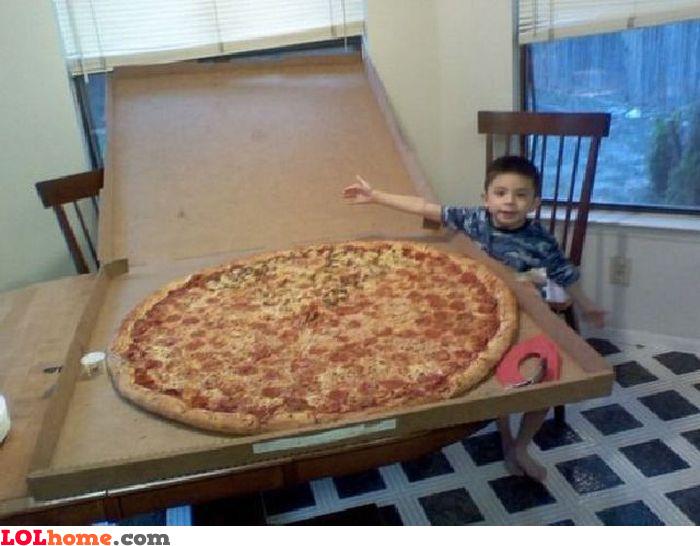 Huge pizza