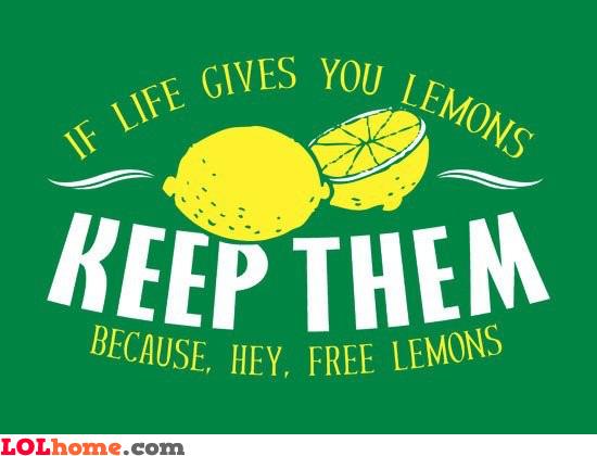 Free lemons!!!