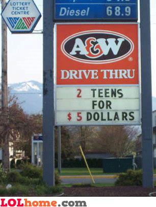 2 teens for 5 dollars