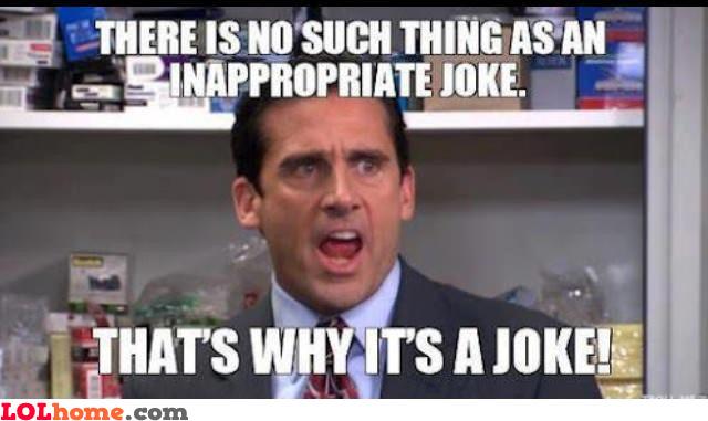 Inappropiate joke