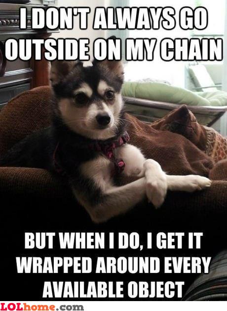 Walking in chain