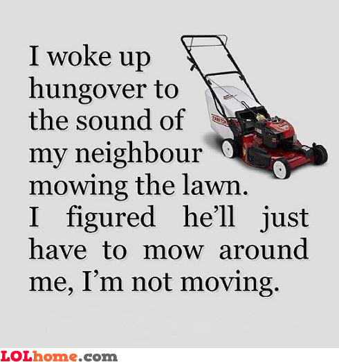 Woke up hungover