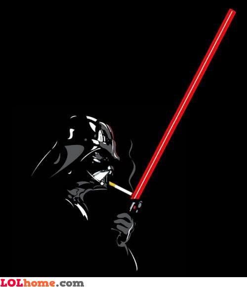 Darth Vader Smokes