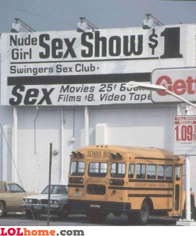 school bus at sex show