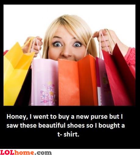 Women logic at shopping