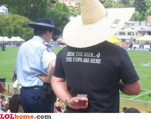 Hide the beer!