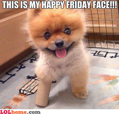 Happy Friday Face