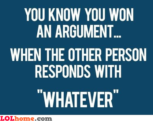 Argument Won
