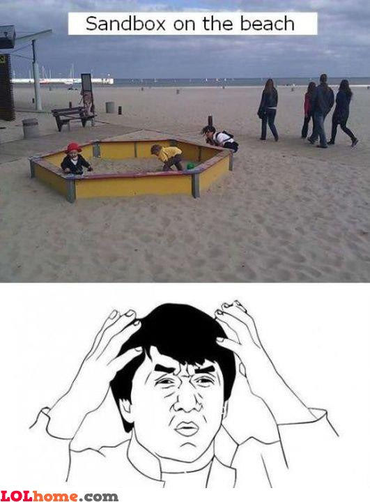 Sandbox on the beach