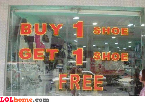 1 Free Shoe