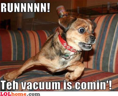 That vacuum...