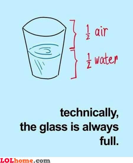 Glass always full