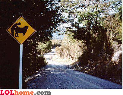 Redneck traffic sign