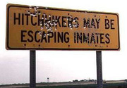 Hitchhikers may be escaping inmates