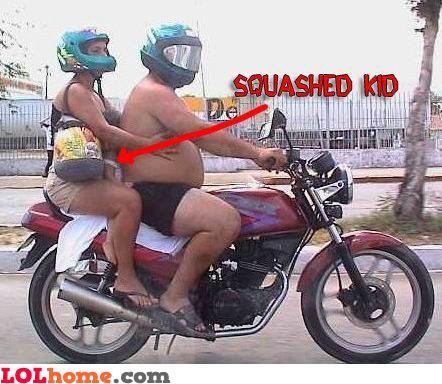Squashed kid