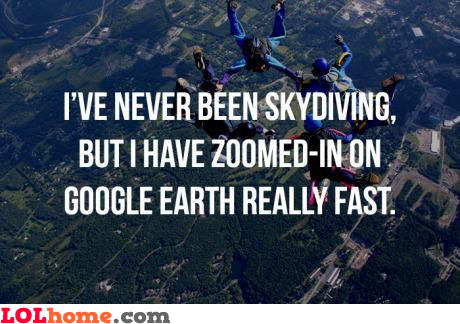 Almost like skydiving