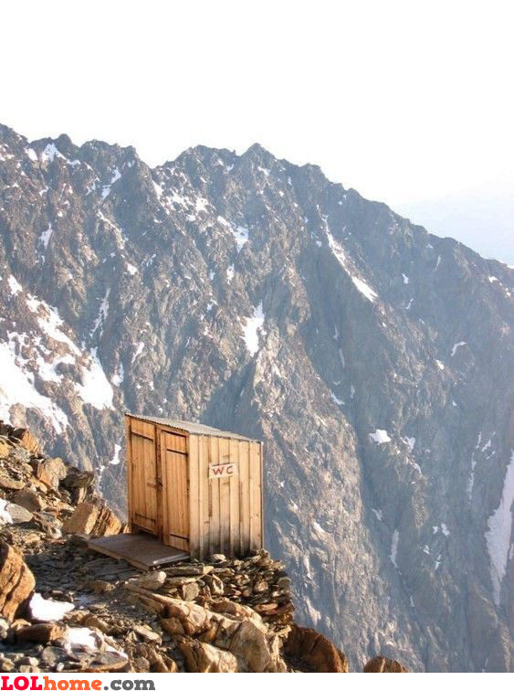 High altitude toilet