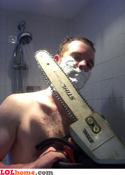 Chainsaw shaving