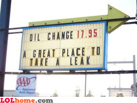 A great place to take a leak
