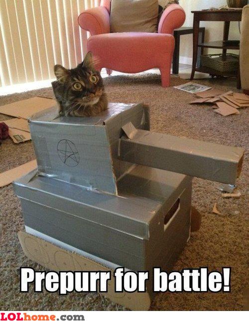 Prepurr for battle!