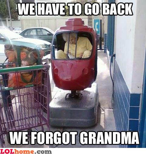 Funny Memes For Grandma : We forgot grandma funny pic