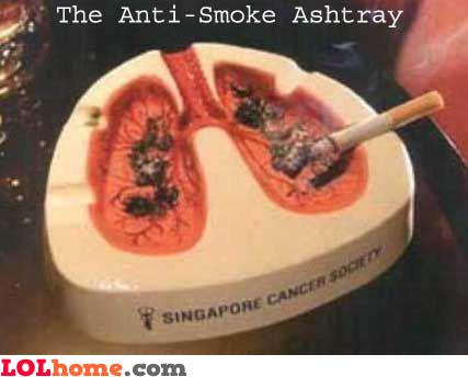 The anti-smoke ashtray