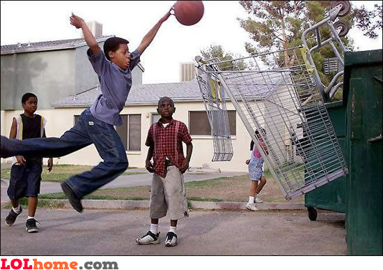 basketball in the hood