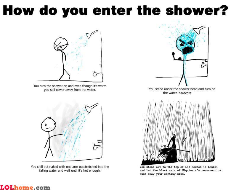 Shower styles