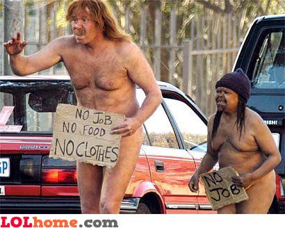Naked beggars