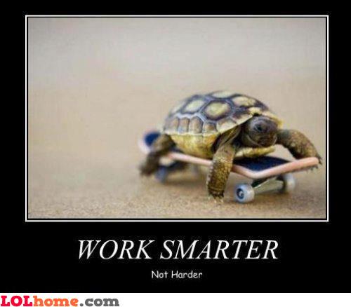 Smart, not fast