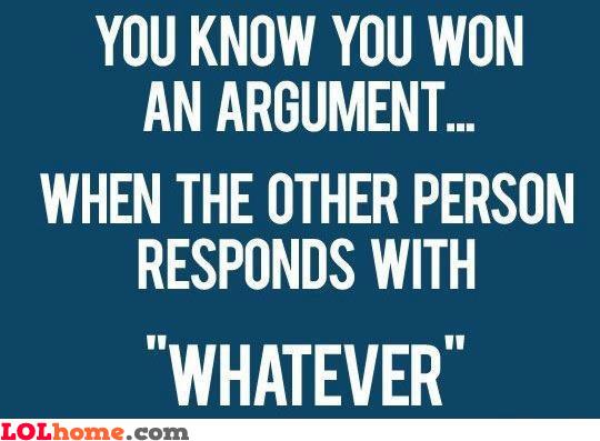 Winning an argument