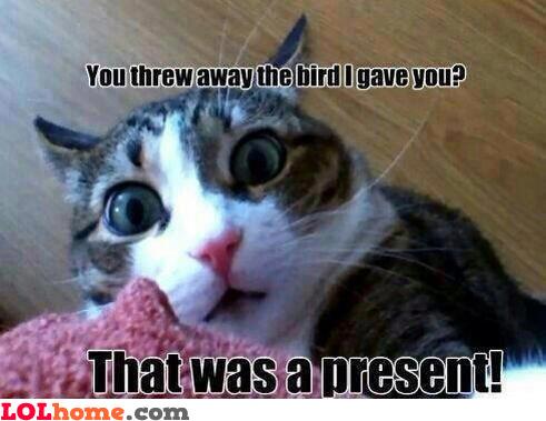 Nooo, you threw it!