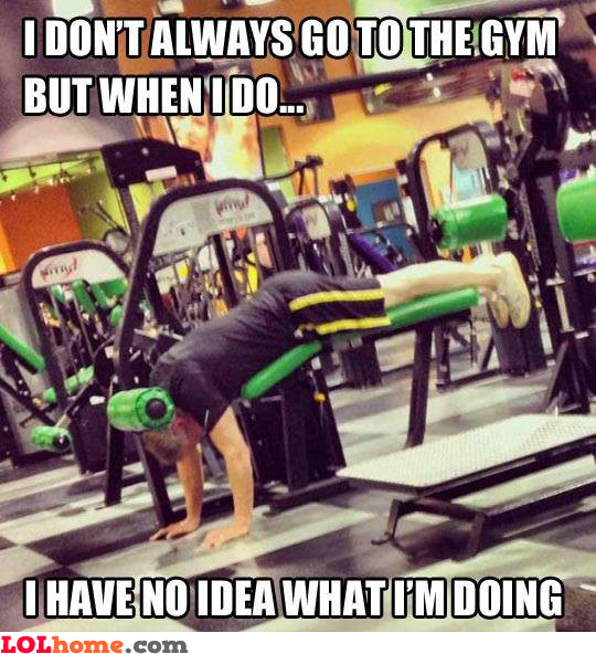 New guy at the gym