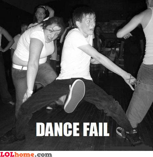 Dancing fail