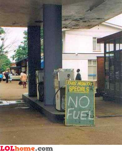 no fuel!