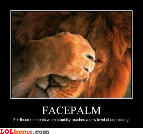 Facepalm lion level